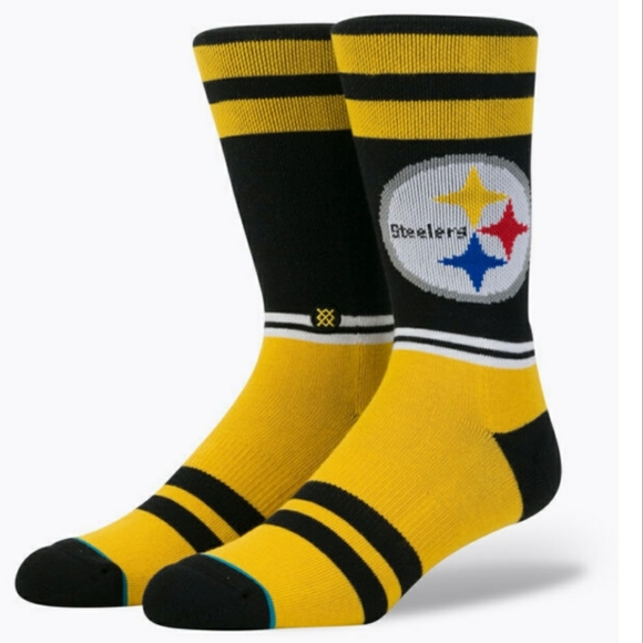 Pittsburg Steelers Stance Sideline Men's Crew Sock